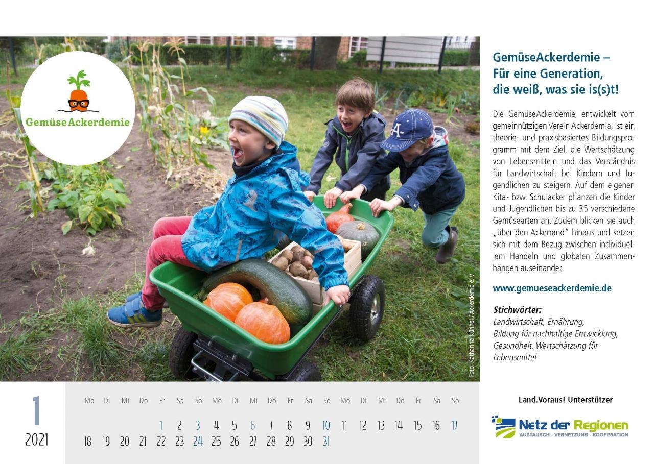 Land.Voraus 2021 Projektkalender Vorderseiten_Gewinner 21.12.2020 - GemüseAckerdemie – Für eine Generation, die weiß, was sie is(s)t!