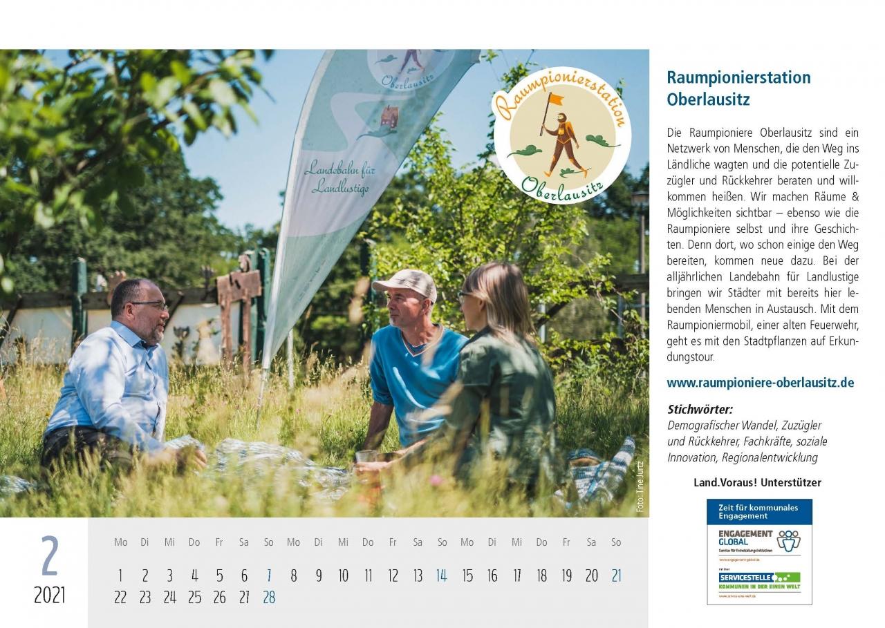 Land.Voraus 2021 Projektkalender Vorderseiten_Gewinner 21.12.2020 - Raumpionierstation Oberlausitz