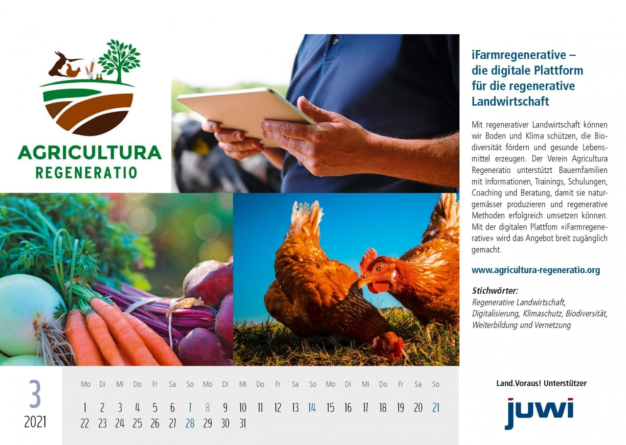 Land.Voraus 2021 Projektkalender Vorderseiten_Gewinner 21.12.2020 - iFarmregenerative – die digitale Plattform für die regenerative Landwirtschaft